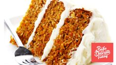 Want a moist and delicious carrot cake? This is it. Get printable recipe on link. Enjoy!