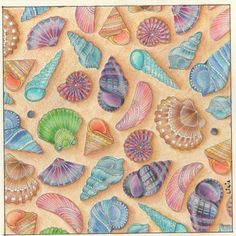 Johanna Basford   Colouring Gallery: 'LOST OCEAN' By LiCla. Pens and pencils used: Misturunha Faber Castell.