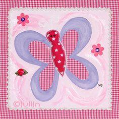 Het vlindertje in het roze, past bij het uiltje in het roze.