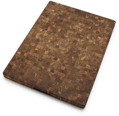Cool looking cutting board made from sustainably sources teak. Naturally water resistant. #sustainable #teak #wood #kitchen