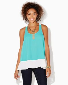 charming charlie | Carefree Colorblock Tank | UPC: 410006526198 #charmingcharlie