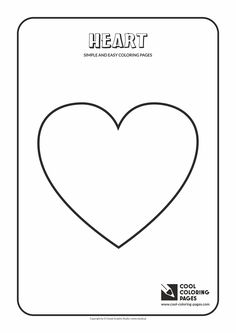 Simple and easy coloring pages for toddlers - Heart