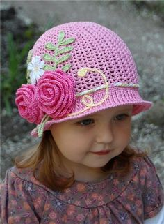 DIY Crochet Pretty Panama Hat for Girls.. I need to learn to crochet!