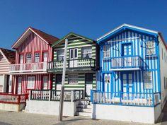 Traditional colorful houses in Costa Nova, Aveiro. @PortugalConfidential #CentroPC #Portugal