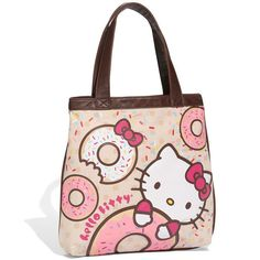 Loungefly  Hello Kitty - Doughnut  Canvas Handbag (Girls) found on Polyvore fed3d156448ee