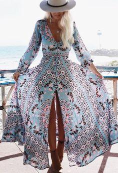 Boho Maxi Dress                                                                             Source