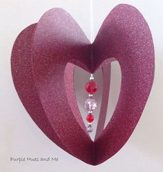 3D Valentine Heart Within A Heart