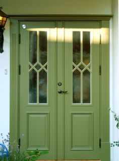 lindblomsgrön ytterdörr - Sök på Google Porch Doors, Porch Entry, Windows And Doors, Grill Door Design, Sweden House, Red Houses, Room Divider Doors, Front Door Colors, Paint Colors For Home