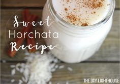 Ingredients list and easy directions for how to make your own. Sweet, chilled Mexican horchata drink made with rice + cinnamon. Horchata Drink, Mexican Horchata, Horchata Recipe, Mexican Drinks, Jello Shot Recipes, Mexican Food Recipes, New Recipes, Cooking Recipes, Homemade Horchata