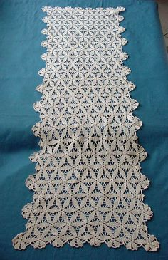 Antique White Lace Table Runner c1930 by chalcroft on Etsy, $9.95