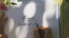 #curiouscalligrapher #flourishforum #weddingcalligraphy #moderncalligraphy #calligraphybymaryellen #autumn #flowers