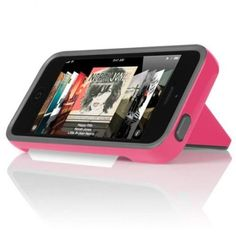 Incipio Stowaway Case and Credit Card Holder for Apple iPhone 5/5S (Pink/Gray)