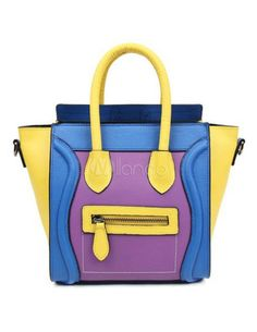 Yellow, blue and purple ain't a bad combination, yes? I so envy this bag.