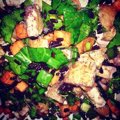 #blackrice #chicken #carrots #greenonions #spinach #oliveoil Black Rice Salad, Green Onions, Kung Pao Chicken, Palak Paneer, Spinach, Carrots, Salads, Vegetables, Healthy