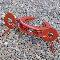 Horseshoe Crab lawn art garden yard by BlacksmithCreations on Etsy Horseshoe Projects, Horseshoe Crafts, Horseshoe Art, Welding Art Projects, Metal Art Projects, Metal Crafts, Welding Ideas, Diy Crafts, Metal Yard Art