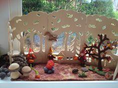 Autumn nature table, herfst seizoenstafel