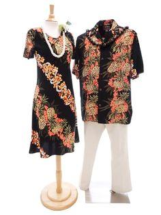 0e6dc0fbcb Hilo Hattie Hilo Hattie Pineapple Panel Black Rayon Men s Hawaiian Shirt  Hawaiian Outfits