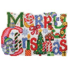 Amazon.com: Merry Christmas Wall Hanging Plastic Canvas Kit: Arts, Crafts & Sewing