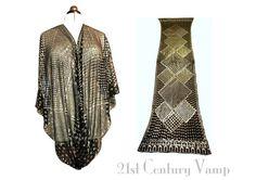 1920s Assuit Shawl. Art Deco Geometric Diamonds.  21stCenturyVamp on Etsy