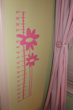 Kids Flower Growth Chart Vinyl Wall Decal by doodlebugdesignsTN, $25.00