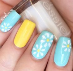 Born Pretty 12 Tips/Sheet Pastel Daisy Pattern Nails Nail Vinyls Nail Art Manicure Stencil Stickers JV203 : Beauty