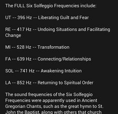 The use of Solfeggio Frequencies.
