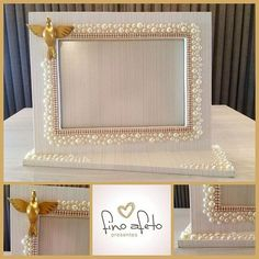 Pin by Nicol on חתונה Craft Projects, Projects To Try, Frame Crafts, Baby Decor, Diy Gifts, Picture Frames, Wedding Gifts, Diy And Crafts, Wedding Decorations
