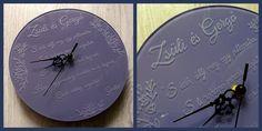 Gravírozott üveg óra #minibazár #esküvő #ajándék Clock, Wall, Watch, Clocks, The Hours