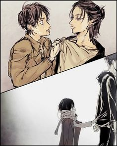 Eren E Levi, Eren X Mikasa, Armin, Attack On Titan 2, Attack On Titan Fanart, Anime One, Anime Art Girl, Manga, Haikyuu