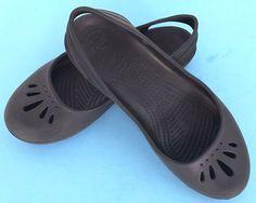 Crocs MARY JANE Black Womens Slip On Sling Back Shoes Size 9 W 9W #eBayDanna