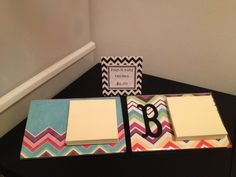 Personalized post-it note holders!