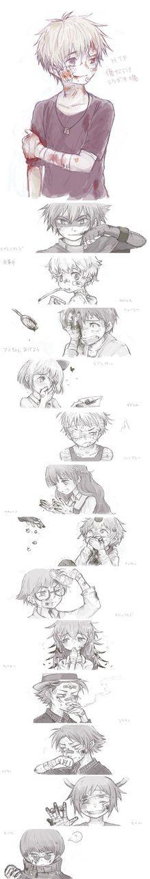 blood   drawing   gore   happy tree friends   htf   manga