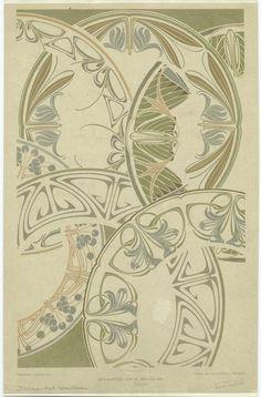 Art Nouveau designs for circular borders