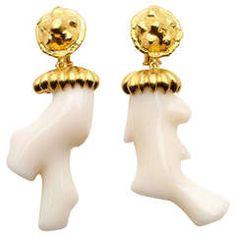 Jean Mahie coral earrings