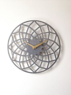 Spiro Clock Geometric Modern Laser Cut Wood Wall Clock on Etsy, $65.00