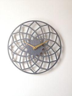 Spiro Clock Geometric Modern Laser Cut Wood Wall Clock on Etsy, $65.00