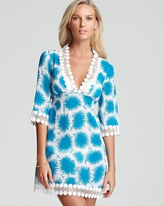 7f8f9e1749797 Milly Aster Print Swimsuit Coverup Dress