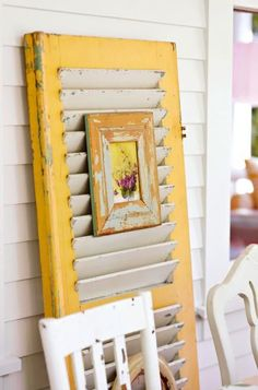 Repurposed Window Shutter Projects • Tutorials and ideas, including this window shutter idea by 'Midwest Living'!