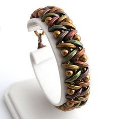 Bracelets - marigold brown mat - 5868962_