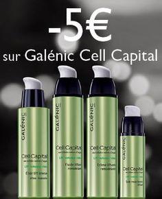 - 5€ sur Galénic Cell Capital jusqu'au 31 octobre 2015 monClubBeauté : http://www.monclubbeaute.com/14911-cell-capital