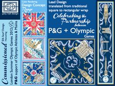 London Olympic Games - Celebration of the Procter & Gamble partnership with the Olympic Games and celebration of Mom.  Iconic sights of London with a swirling ribbon threading the images together along with acting as the stage for golden athletes.