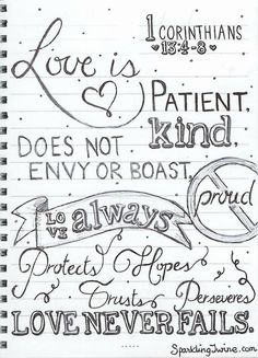 Love is patient coloring page. Sparkling Twine | A blog about crafts, food, travel and pretty things!