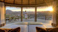 Breath-taking views from Mowani Mountain Camp -- Luxury safari lodge in Namibia -- Damaraland