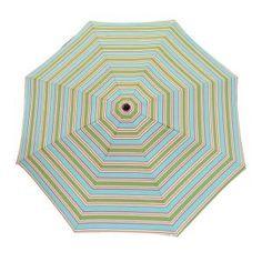 Beach Stripe Patio Umbrella With Bronze Frame
