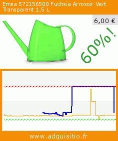 Emsa 572156500 Fuchsia Arrosoir Vert Transparent 1,5 L (Outils et accessoires). Réduction de 60%! Prix actuel 6,00 €, l'ancien prix était de 15,01 €. https://www.adquisitio.fr/emsa/572156500-fuchsia