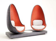 Philippe Starck Play Lounge Chair - It marries the high technology of a molded polypropylene and fiberglass frame with the unique style of chairs and backrests handcrafted by master artisans. Funky Furniture, Wicker Furniture, Furniture Design, Outdoor Furniture, Deco Furniture, Lounge Furniture, Outdoor Sofa, Outdoor Living, Ideas