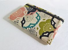 Sleek passport cover -- Japanese fabric Plum Blossoms on Etsy, $19.30 AUD