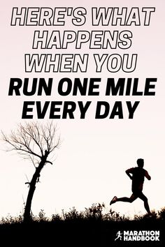 Running a mile a day has completely changed my life - by just running one mile every day, I've managed to tame my mental and physical restlessness, improve my health, and feel much better and more productive.  This guide to how to run a mile a day will set you off to start an awesome new habit! #howtorun #runtraining Running A Mile, How To Start Running, Running Tips, Training For A 10k, Benefits Of Running, Running For Beginners, Just Run, What Happens When You, Change My Life