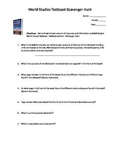 1000+ ideas about Textbook Scavenger Hunt on Pinterest | Social ...