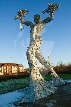 Man in Motion sculpture by Andy Scott, Tullibody, Clackmannanshire, Scotland